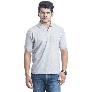 Concepts Light Grey Polyester Polo Tshirt