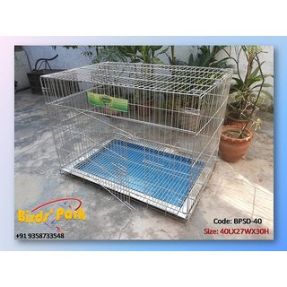 Dog cage Stainless steel for Labrador, GSD, Pug, Poodle, Dalmatian