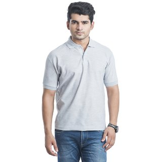 Concepts Light Grey Cotton Blend Polo T Shirt