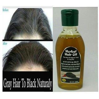 Herbal Hair oil to grow balck hair naturally