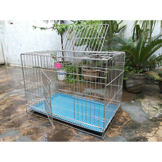 Dog Cage Steel for Pug, Dachshund  Small Breed Pups 36 Inch Length