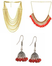 Combo of 2   beads  necklace + jhumki earring