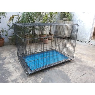 Dog Cage Heavy Kennel for Labrador GSD Dalmatian Poodle  Pug 40 Inch Length Wrought Black