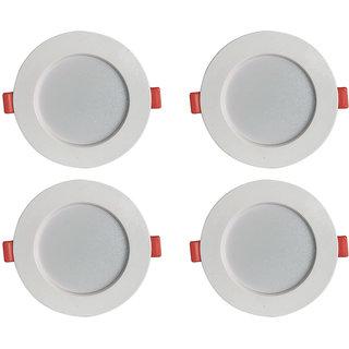 Bene LED Konnect Round Virgin Plastic Ceiling Light, (White, 7w, Pack of 4 Pcs)