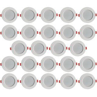 Bene LED Konnect Round Virgin Plastic Ceiling Light, (Warm White , 7w, Pack of 24 Pcs)