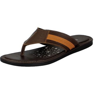1a49dc30367 Buy FAUSTO Brown Men s Flip Flop and House Slippers Online - Get 4% Off