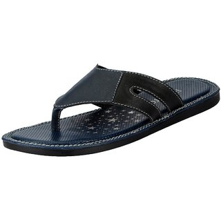 FAUSTO Blue Men's Flip Flop and House Slippers