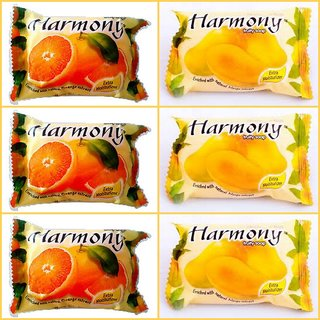 Harmony Fruity Soaps (Mix Pack of 6 - 75 grams)