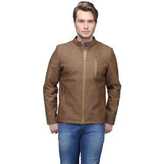 Be-Beu Tan Leather Mens Jacket