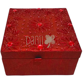 Danni Jewellery Accessories Box with Mirror and Lift Out Level For Jewellery Items.