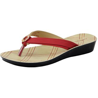 Bata Red Women's Slippers