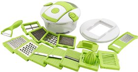 Ankur 15 in 1 Fruit and Vegetable Cutter - Chopper, Grater, Slicer , Peeler  (Set of 1)