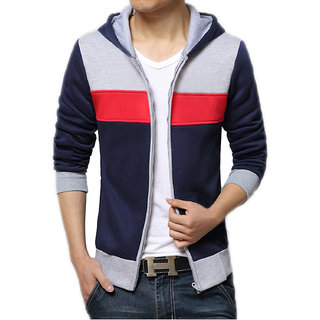 AWG Men'S Cotton Multi-Colour Sweathsirt With Zip - AW17-AWG-SSLZ83-XXL