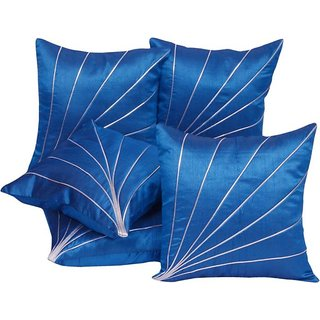 FKPL (12 inch x 12 inch) Abstract Cushions Cover Blue Color (Pack of 5 Piece)