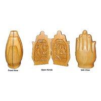 Set Of 2 Wood Lord Laxmi Ganesha In Form Of Folded Hands