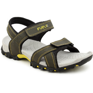 3dbcb84ed74 Buy FUEL Men s Boy s Fashionable Comfortable Velcro Closure Solid Casual  Floaters Sandals Online   ₹799 from ShopClues