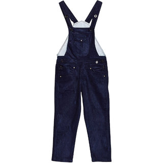 aadca689ff2 Buy FirstClap Cotton Full Length Dark Blue Dungaree