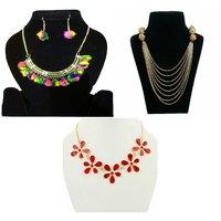 Combo of  3 fashion oxidised necklace