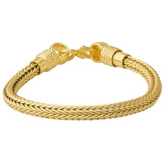 0ba12510d8f4f Dare by Voylla Braided Design Gold Plated Bracelet For Men