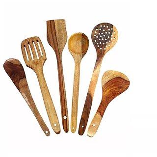Onlineshoppee Handmade Wooden Serving Spoons Combo