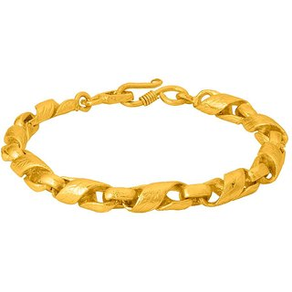 Dare by Voylla  Twisted Glossy Designer Bold Bracelet For Men