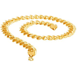 Dare by Voylla Solid Cuban Link Gold Plated Chain