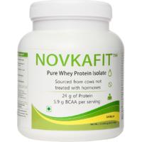 Novkafit Pure Whey Protein Isolate - 1 Lb (454 G), Vani
