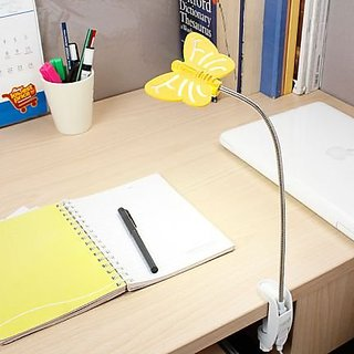 LED Flyte Clamp - Cool White Light - Yellow (with AC Adapter)
