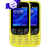 Set Of 2 IKall K6303 Yellow+yellow, Dual Sim  2.4 Inch,