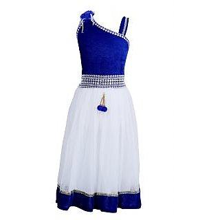 0412789af9e0 Buy Qeboo Blue Beautiful Party Wear Girls Dress Online - Get 49% Off