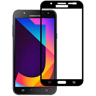 Stuffcool Mighty 2.5D Full Screen Tempered Glass Screen Protector for Samsung Galaxy J7 Nxt - Black