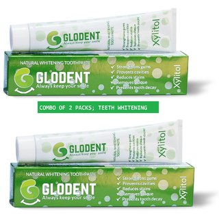 GLODENT - Natural Teeth Whitening Toothpaste 100gms by GPL (Set of 2 Packs)