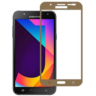 Stuffcool Mighty 2.5D Full Screen Tempered Glass Screen Protector for Samsung Galaxy J7 Nxt - Gold