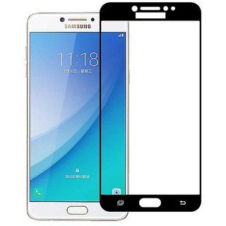 Stuffcool Mighty 2.5D Full Screen Tempered Glass Screen Protector for Samsung Galaxy C7 Pro - Black