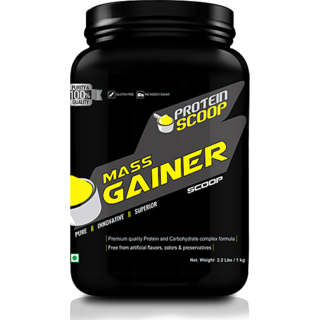 Protein Scoop Mass Gainer Strawberry 1kg/ 2.2 Lbs