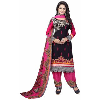 Drapes womens Multicolor Crepe Printed Dress Material (UnStitched) DF1816