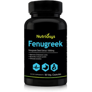 Nutriosys Fenugreek - 1000mg (90 Veg Capsules)