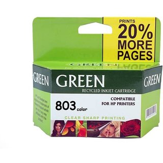 Green  803 tri-color ink cartridge compatible Multi Color Ink