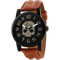 Jack Klein Skeleton Edition Brown Strap Wrist Watch For
