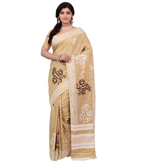 433d7dc36 Buy Mina Saree Beige Art Silk Printed Saree With Blouse Online   ₹1515 from  ShopClues