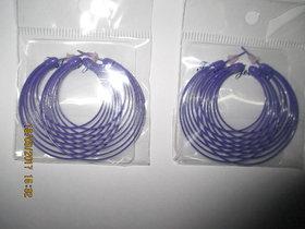 Ear Ring purple colour
