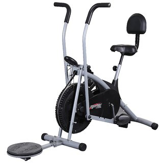 Body Gym Air Bike Stamina Exercise Cycle With Back Twister