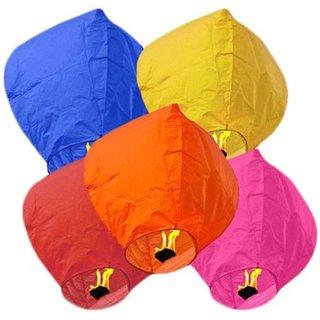 LITAX Multi Color Saucer's Flying Sky Lantern PACK5