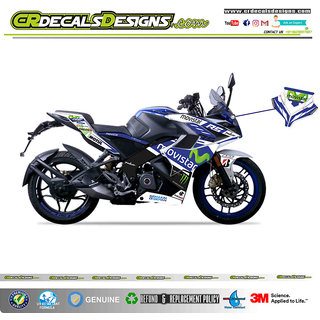 PULSAR RS 200 Custom Decals/Stickers Full Body MOVISTAR Kit