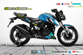 CR Decals APACHE RTR 200 4v Custom Decals/Stickers VR46 SHARK Edition Kit