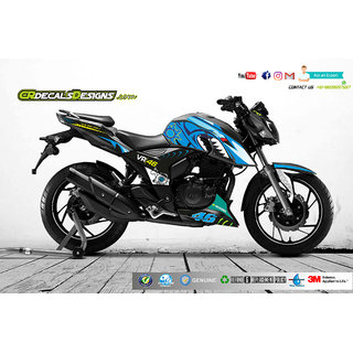 buy apache rtr 200 4v custom decals stickers vr46 shark edition kit