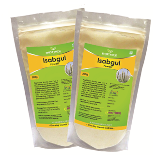 Biotrex Isabgul Powder  - Regularity Of Gastrointestinal Health (200g), Pack Of 2