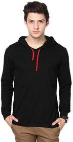 Adorbs Men's Black Hooded T-Shirt