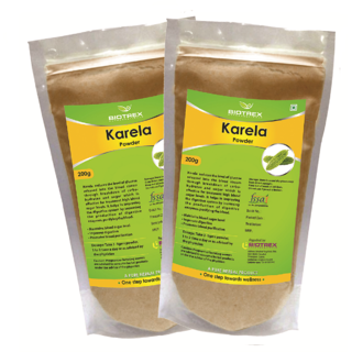 Biotrex Karela Powder - Control Blood Sugar Level(200g)  Pack Of 2