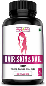 Simply Nutra Biotin 5,000 Mcg For Hair Skin  Nails With